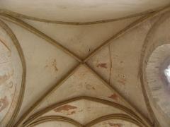 Ancienne abbaye Saint-Méen - Peintures murales de la chapelle Saint-Vincent de l'Abbatiale Saint-Méen de Saint-Méen-le-Grand (35). Voûtes de la première travée (d'ouest en est).