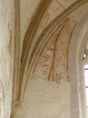 Ancienne abbaye Saint-Méen - Peintures murales de la chapelle Saint-Vincent de l'Abbatiale Saint-Méen de Saint-Méen-le-Grand (35). Costale est.