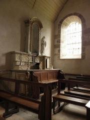 Eglise Saint-Martin - Autel sud de l'église Saint-Martin au Tiercent (35).