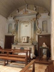 Eglise Saint-Martin - Maître-autel de l'église Saint-Martin au Tiercent (35).