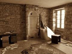 Ancien prieuré de bénédictins Notre-Dame, tribunal et école de musique - English: Vitré (Ille-et-Vilaine, France) - Une salle abandonnée du tribunal.
