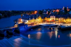 Pont de Saint-Goustan - English: The harbour of St. Grousin on the banks of the river Auray in the commune of Auray