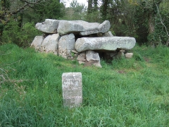 Dolmen de Roch-Feutet -  Dolmen near Carnac, France, known as