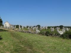 Six menhirs de l'enceinte du Ménec - English: Alignement du Ménec