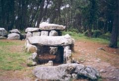 Tumulus à trois dolmens de Mané-Kérioned -  un des 3 dolmens de Mane-Kerioned, commune de Carnac
