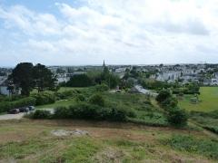 Tumulus-dolmen du Mont-Saint-Michel - Vue sur Carnac (Morbihan) depuis le tumulus Saint-Michel