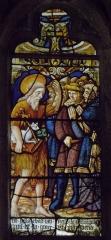 Eglise Saint-Jean-Baptiste - Français:   Maîtresse-vitre de l\'église Saint-Jean-Baptiste de Le Croisty (56). Détail. Prédication de Saint-Jean-Baptiste.