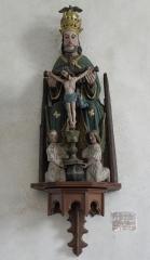 Eglise Saint-Jean-Baptiste - Français:   Statue de la Trinité de l\'église Saint-Jean-Baptiste de Le Croisty (56).