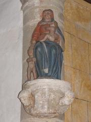Eglise Saint-Jean-Baptiste - Français:   Statue de la Sainte-Parenté de l\'église Saint-Jean-Baptiste de Le Croisty (56).