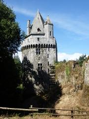 """Ancienne forteresse ou ancien château de Largouët -  """" la tour ronde """""""