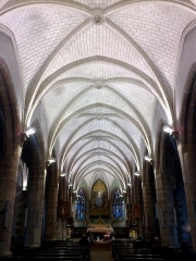Eglise paroissiale Notre-Dame de l'Assomption -  Morbihan Le Faouet Notre Dame Nef 12012014