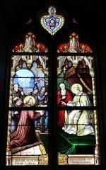 Chapelle Saint-Mélèc de Tréganteur - Chapelle de Trégranteur: vitrail dans le volume nord, signé J.Fournier 1899 (Tours)