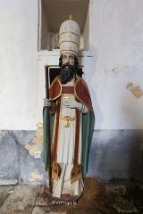 Eglise Sainte-Croix - Français:  Statue de saint Corneille dans la chapelle Sainte-Croix de Josselin (France).