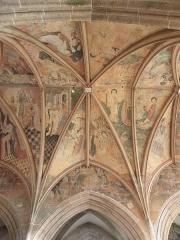 Eglise ou chapelle Notre-Dame - Voûtes de la2de travée du chœur de la chapelle Notre-Dame de Kernascléden (56) vues du collatéral sud.