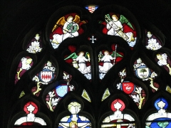 Eglise Saint-Conogan - English: Blazons of the Lords of the municipality