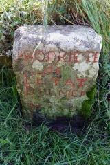 Dolmen du Mané-Rutual - English: Locmariaquer, France. Dolmen du Mané-Rutual. Stone marker: