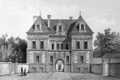 Allée couverte coudée de Mané-er-Loh, dite Mané-Bras - Deutsch: Zeichnung des Torbaus von Schloss Tanlay, Südwestfassade