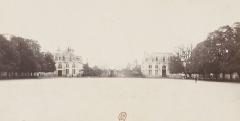 Préfecture maritime -  Lorient en 1866, Place d'arme, avec au fond l'Hotel Gabriel