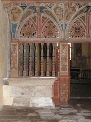 Chapelle Saint-Nicolas - Français:   Élévation ouest du jubé de la chapelle Saint-Nicolas de Priziac (56).