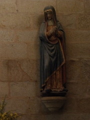 Chapelle de Locmaria - Français:   Quistinic (Morbihan, France), chapelle de Locmaria, Vierge de Calvaire ou sainte Madeleine.