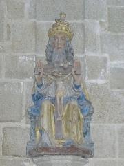 Chapelle de Locmaria - Français:   Chapelle de Locmaria en Quistinic (56). Statue de la Sainte-Trinité.