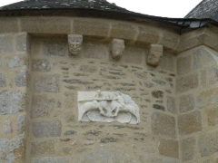Eglise Saint-Gildas - Pierre du chœur de l'abbaye Saint-Gildas-de-Rhuys.