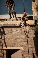 Fort de Penthièvre - English: A U.S. Marine with the ground combat element of Security Cooperation Task Force Africa Partnership Station 2012 completes an obstacle during a training exercise at Fort de Penthievre, France, July 22, 2012. Africa Partnership Station is an international security cooperation initiative facilitated by Commander, U.S. Naval Forces Europe-Africa aimed at strengthening global maritime partnerships through training and collaborative activities in order to improve maritime safety and security in Africa.