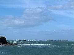 Ile Thinic -  Morbihan Saint-Pierre-Quiberon Portivy Ile Thinic Vue Ile Teviec 03/02/2016