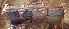Chapelle de Saint-Gobrien - Chapelle Saint-Gobrien de Saint-Servant: plafond du retable nord