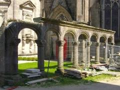 Cathédrale Saint-Pierre - Cathédrale Saint-Pierre de Vannes (Morbihan, France), restes du cloître