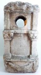 Ancien hôtel du Parlement de Bretagne, dit Château-Gaillard - Français:   Missiriac: base de colonne en calcaire de la villa de Bermagouet (musée d\'hoistoire et d\'archéologie de Vannes)