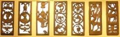 Ancien hôtel du Parlement de Bretagne, dit Château-Gaillard - Français:   Sept panneaux sculptés à jour (portraits et animaux) provenant de l\'église paroissiale de Gourin et datant du XVIe siècle (musée d\'histoire et d\'archéologie de Vannes)