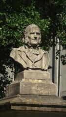 Préfecture - English: Ange Guépin monument, Place Delorme, Nantes