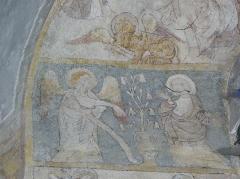 Eglise Notre-Dame - Fresque du croisillon sud de l'église Notre-Dame d'Aigueperse (63). Cycle de la vie du Christ. Annonciation.
