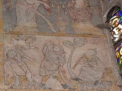 Eglise Notre-Dame - Fresque du croisillon sud de l'église Notre-Dame d'Aigueperse (63). Cycle de la vie du Christ. Annonce aux bergers.