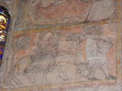 Eglise Notre-Dame - Fresque du croisillon sud de l'église Notre-Dame d'Aigueperse (63). Cycle de la vie du Christ. Fuite en Égypte.