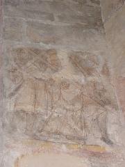 Eglise Notre-Dame - Fresque du croisillon sud de l'église Notre-Dame d'Aigueperse (63). Cycle de la vie du Christ. Portement de Croix.