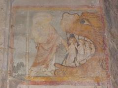 Eglise Notre-Dame - Fresque du croisillon sud de l'église Notre-Dame d'Aigueperse (63). Cycle de la vie du Christ. Descente aux enfers.