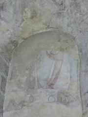 Eglise Notre-Dame - Fresque du croisillon sud de l'église Notre-Dame d'Aigueperse (63). Cycle de la vie du Christ. Noli me tangere?
