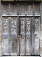 Sainte-Chapelle ou chapelle Saint-Louis - Français:   Aigueperse - Sainte-Chapelle - Porte
