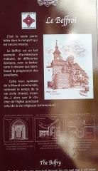 Beffroi - Français:   Panneau d\'informations historiques relatives au Beffroi, Besse-et-Saint-Anastaise (Puy-de-Dôme).