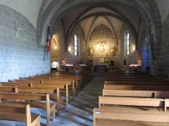 Chapelle Notre-Dame de Vassivière - English: Interior of the chapel of Notre-Dame de Vassivière (Puy-de-Dôme, France).