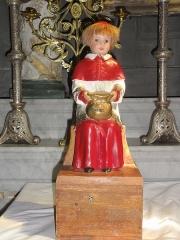 Eglise Saint-Pierre - English: Biollet (Puy-de-Dôme) église statue Merci, enfant de choeur