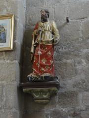 Eglise Saint-Pierre - English: Biollet (Puy-de-Dôme) église statue Saint Paul