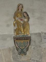 Eglise Saint-Pierre - English: Biollet (Puy-de-Dôme) église statue Ste Anne