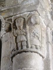 Eglise Saint-Pierre - English: Chapiteaux de l'église Saint-Pierre de Biollet (Puy-de-Dôme) 07