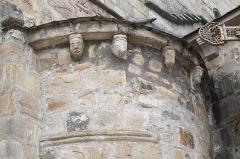Eglise Saint-Fargheon - Deutsch: Katholische Kirche Saint-Fargheon in Bourg-Lastic im Département Puy-de-Dôme (Auvergne-Rhône-Alpes/Frankreich), Kragsteine