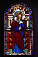 Eglise Saint-Fargheon - Deutsch: Katholische Kirche Saint-Fargheon in Bourg-Lastic im Département Puy-de-Dôme (Auvergne-Rhône-Alpes/Frankreich), Bleiglasfenster