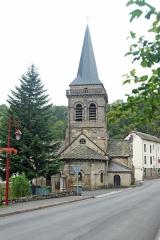 Eglise Saint-Etienne - Deutsch: Dorfkirche Chambon-sur-Lac, Chorhaupt, v. SW