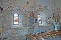 Eglise Saint-Etienne - Deutsch: Dorfkirche Chambon-sur-Lac, Schiff Nordwand, Joche 2-3